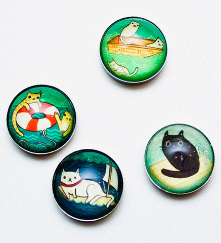 Swimming Cats Magnet Set by Susie Ghahremani / boygirlparty.com