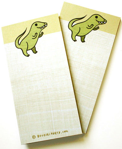 Yellow T-Rex Notepad by Susie Ghahremani / boygirlparty.com