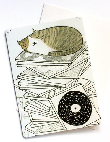 Cat Birthday Card by Susie Ghahremani / boygirlparty.com