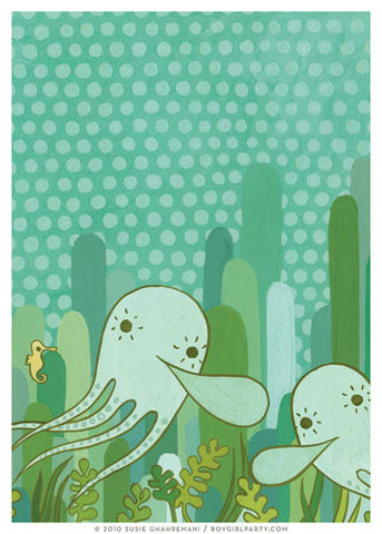 Undersea Octopus Art Print (No.2) by Susie Ghahremani / boygirlparty.com