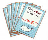 Whale Bookplates (Ex Libris) Set of 6 by Susie Ghahremani / boygirlparty.com