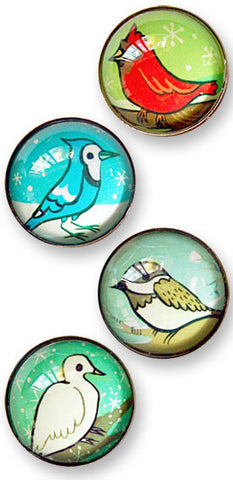 Winter Bird Magnet Set by Susie Ghahremani / boygirlparty.com