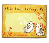 Owl Bookplate (Ex Libris) Set of 6 by Susie Ghahremani / boygirlparty.com