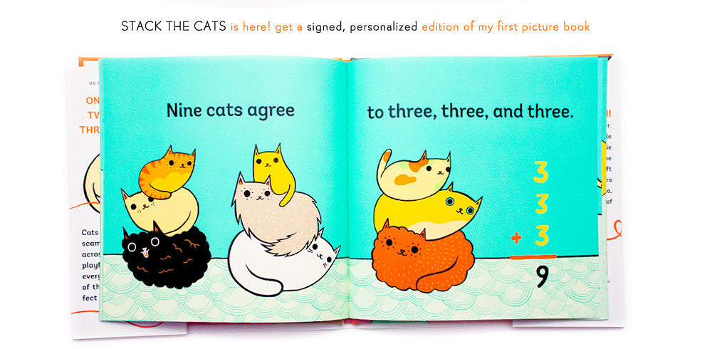 My first picture book, Stack the Cats, is here!