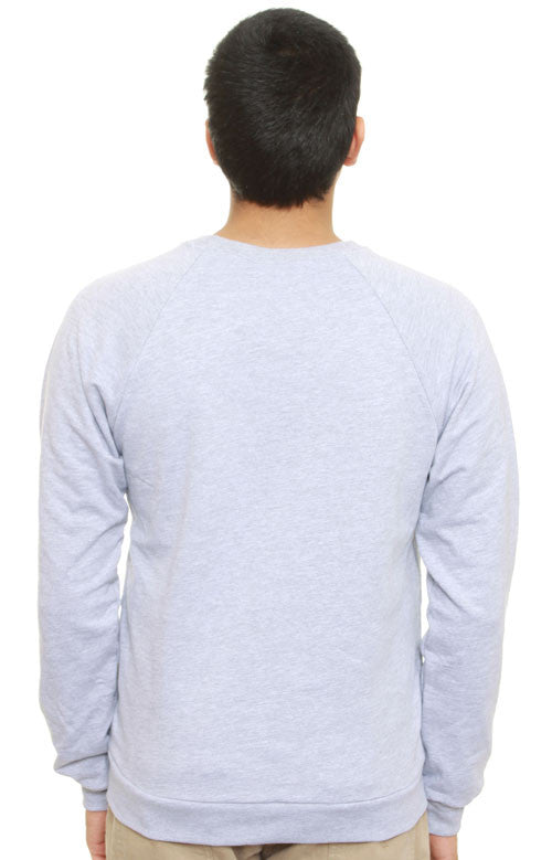 Starry Nights Fitted Raglan Crewneck (Light Grey)