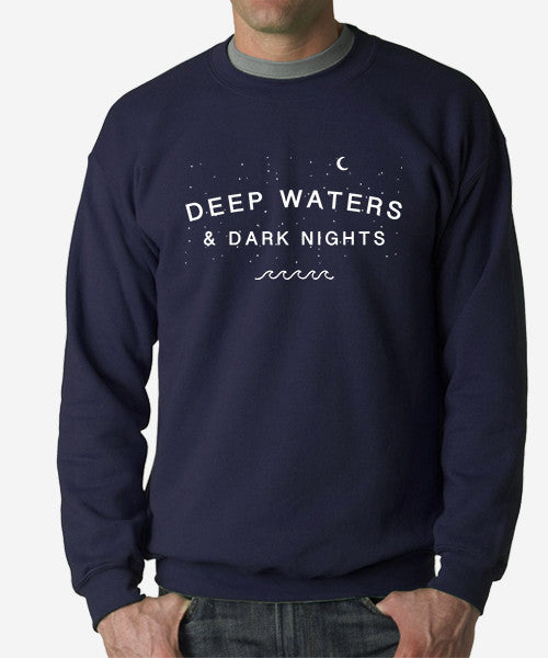 Starry Nights Crewneck Boyfriend Sweatshirt (Navy)