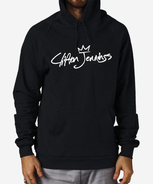 Signature Fitted Raglan Hoodie (Black)