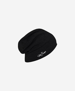 Signature Relaxed Beanie (Black)