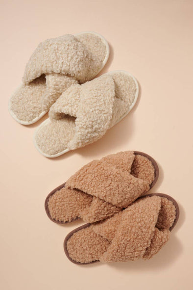 Teddy Sherpa Fur Slippers