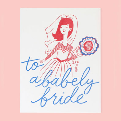 Babely Bride -Greeting Card