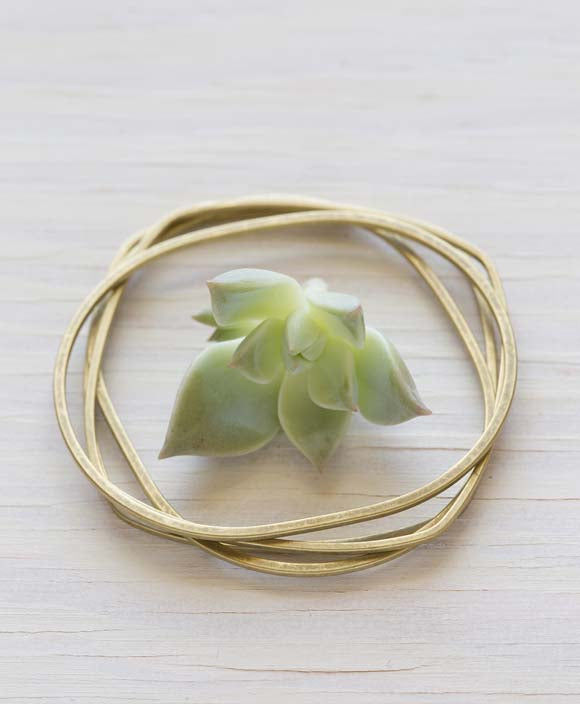 Brass Bangles, Set of 4