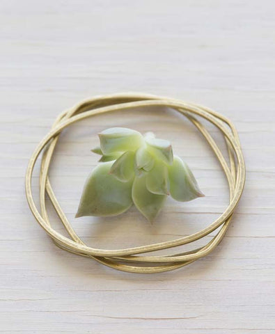 Brass Bangles, Set of 4 - WATERBURY