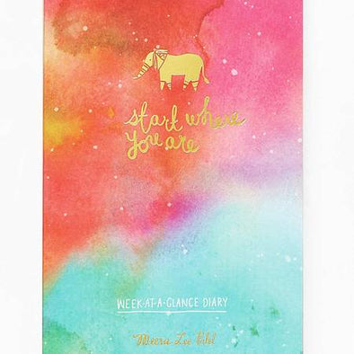 Start Where You Are Week at a Glance Diary/Planner