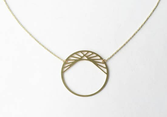 Pyramid in Circle Necklace