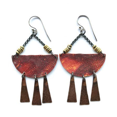 Copper Sunshine Daydream Earrings
