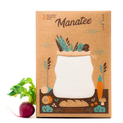 Organic Reusable Produce Bags - Pack of 3