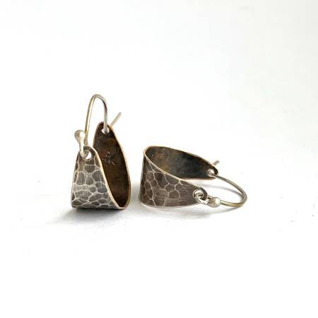 Silver and Brass Hoops - small