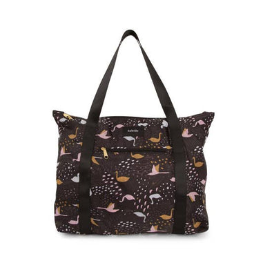 Large Black Swans Packable Tote Bag