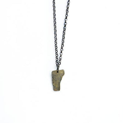 Tiny Brass Vermont Necklace
