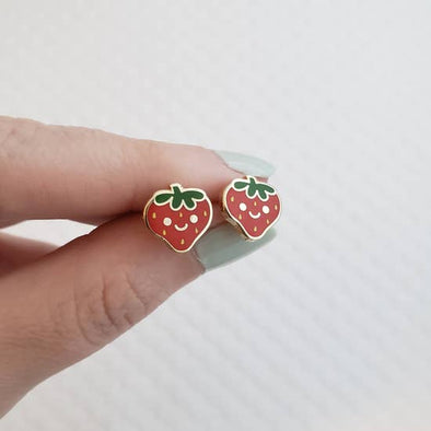 Happy Strawberry Earrings