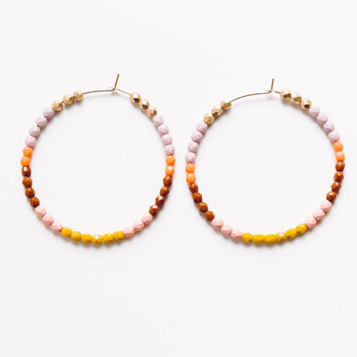 Oversized Gold Filled and Bead Hoops