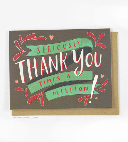 I Love You Times A Million Greeting Card