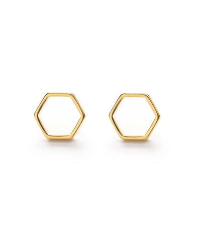 Hexagon Stud Earrings - WATERBURY