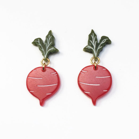 Beet Earrings - Small