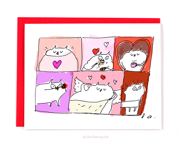 Day of Love - Cat Valentine Card