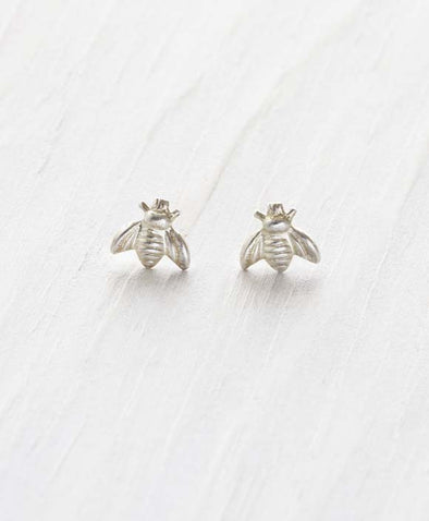 Sterling Silver Honey Bee Stud Earrings