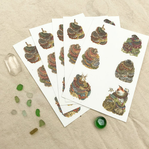Quilted Forest Sticker Sheet