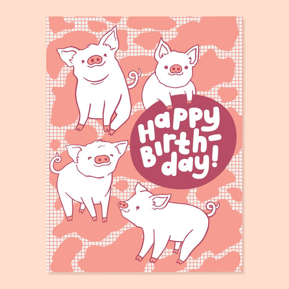 Piggy Birthday Card