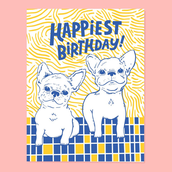 Frenchie Bday Card