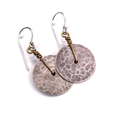 Disk Earrings - Silver - Extra Small
