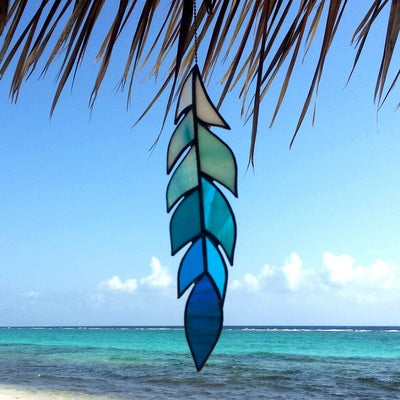 Cayman Kai Stained Glass Feather