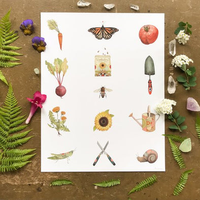 11X14 Art Print Collector: The Garden