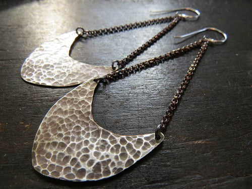 Silver Pendulum Earrings Medium
