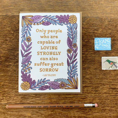 Tolstoy Quote Sympathy Greeting Card