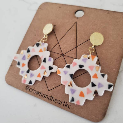 Stepped Geometric Earrings