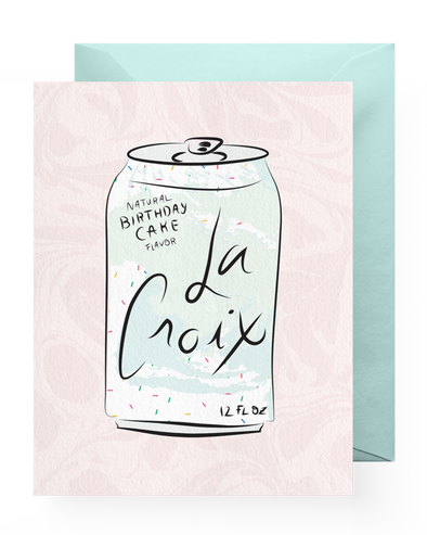Birthday Cake LaCroix Card