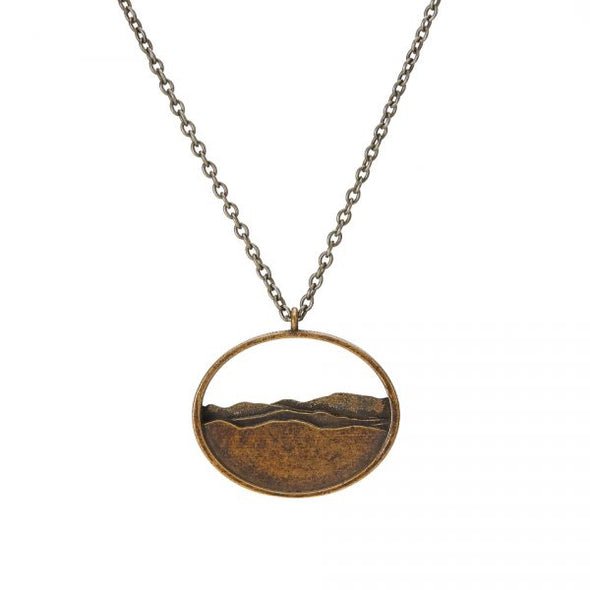 Adirondack Silhouette Necklace - Brass - Large
