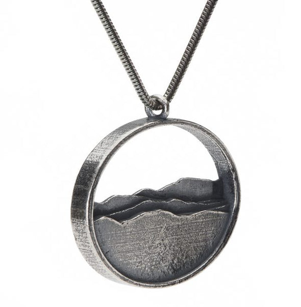 Adirondack Silhouette Necklace - Silver - Large