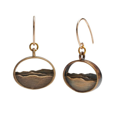 Adirondack Silhouette Earrings - Brass