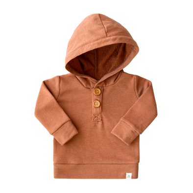 Apricot Button Hoodie