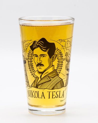 Nikola Tesla Pint Glass