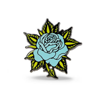 Blue Rose Enamel Pin