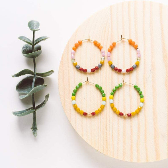 Dainty Gold Filled and Bead Hoops