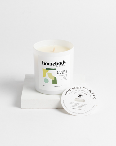 Cactus and Sea Salt Burn and Bloom Candle