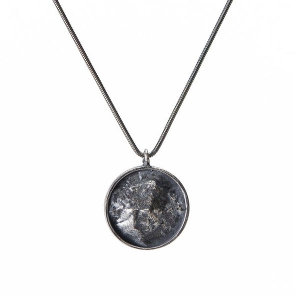 Camel's Hump Topography Necklace - Silver - Small
