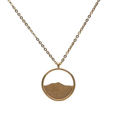 Camel's Hump Silhouette Necklace - Brass - Small